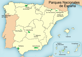 List of national parks of spain wikipedia for Parques de madrid espana