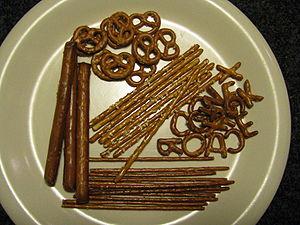 Variety of hard pretzels