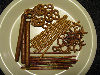 English: Variety of hard pretzels