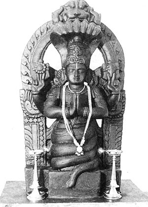 Rāja yoga - Patañjali statue (traditional form indicating Kundalini or incarnation of Shesha)