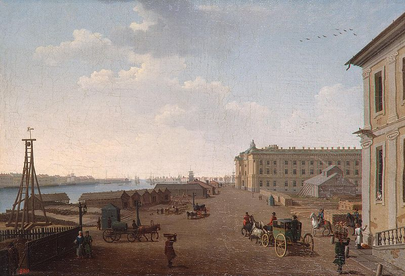 File:Paterssen Embankment of Vasilyevsky Island near the Academy of Arts 1790s.jpg