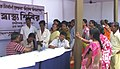 Patients queuing up in a health check up camp, organized by Press Information Bureau, at a Public information Campaign on Bharat Nirman, at Melaghar, Sonamura in Tripura on October 15, 2009.jpg