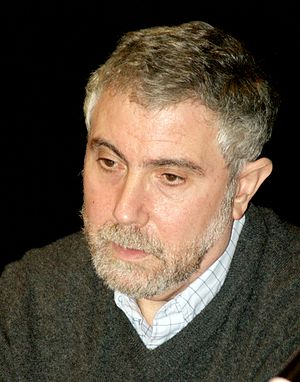 English: Paul Krugman at the 2010 Brooklyn Boo...