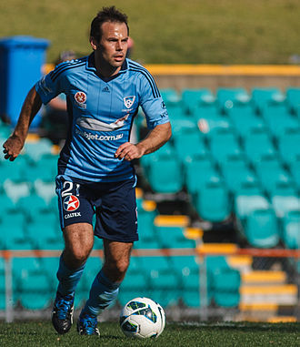 Paul Reid (footballer, born 1979) - Reid playing in a pre-season game on trial with Sydney FC.
