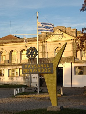 Paysandú - A welcome sign in the old port of Paysandú