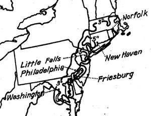 1904 Atlantic hurricane season - Image: Pcpn 19040912thru 15northeast Isohyets