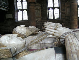 Edward Littleton (died 1558) - Tomb of Sir Edwarde Lyttelton and his wives, Helen Swynnerton and Isabel Wood, in Penkridge parish church. Attributed to the Royley workshop in Burton on Trent.