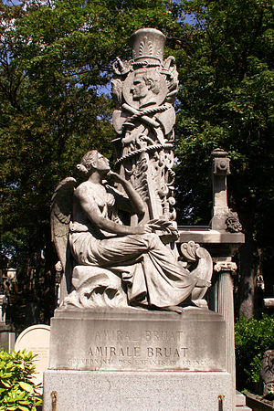 Armand Joseph Bruat - Grave of Admiral Joseph Armand Bruat at the Pere Lachaise cemetery, sculpted by Hippolyte Maindron