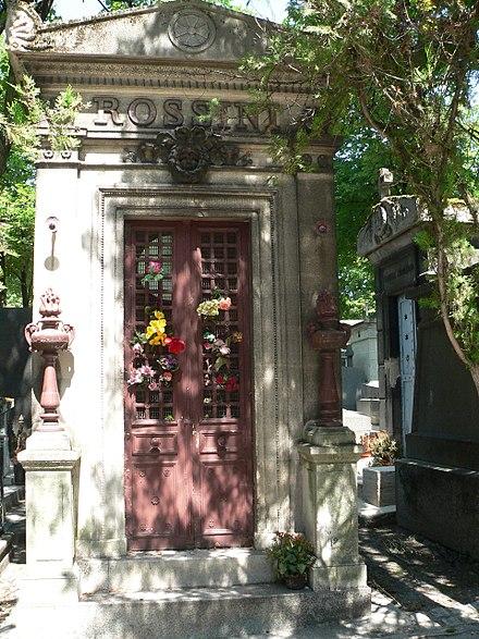 Cénotaphe de Gioachino Rossini au cimetière du Père-Lachaise (division 4).