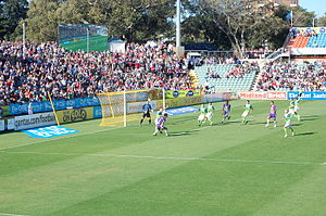 Perth Oval - Perth Glory and North Queensland Fury in 2009 during an A-League match.