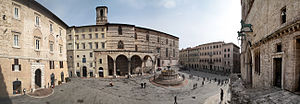 Umbria - Cityscape of the capital Perugia