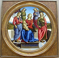 Pietro Perugino: Madonna and Child with Two Angels