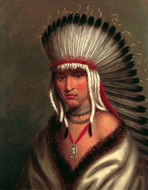 Skidi - Portrait of Petalesharro (ca. 1797–ca. 1832), a Skidi Pawnee, by Charles Bird King, 1822