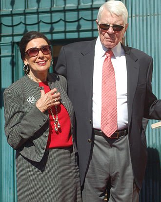 Peter Graves - Graves with wife Joan Endress in October 2009