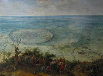 Siege of Leuven - Relief of Louvain. Oil on canvas by Peter Snayers.