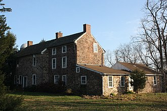 Newtown Township, Bucks County, Pennsylvania - Peter Taylor Farmhouse, built 1750