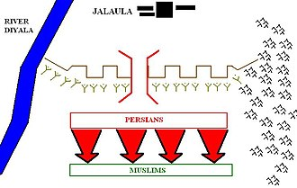 Battle of Jalula - Image: Phase I Vjalula