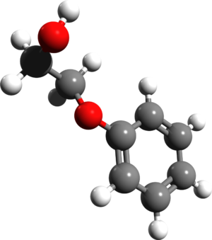 Phenoxyethanol - Image: Phenoxyethanol 3d structure