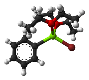 Phenylmagnesium bromide - Image: Phenylmagnesium bromide dietherate from 1964 xtal 3D balls
