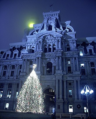 Philadelphia City Hall - Image: Philadelphia City Hall at Night