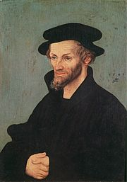 Portrait of Philipp Melanchthon, by Lucas Cranach the Elder. Oil on panel.