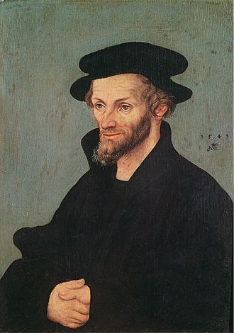 1490s in poetry - Portrait of Philip Melanchthon (born 1497), by Lucas Cranach the Elder