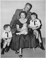Photograph of Representative Gerald R. Ford with his Wife Betty and Their Sons - NARA - 186867.tif