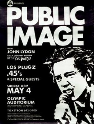 David Ferguson (impresario) - CD Presents poster for Public Image Ltd. concert, Los Angeles, 1980