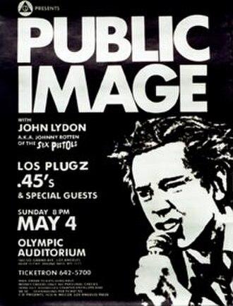 Public Image Ltd - A PiL promotional poster, 1980.