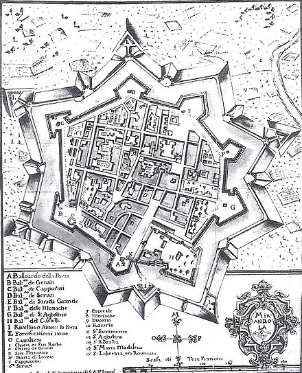 ミランドラ 古地図 イタリア