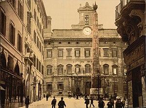 Piazza di Monte Citorio - Image: Piazza di Monte Citorio, Rome, Italy LCCN2001700966
