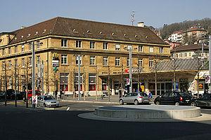 Neuchâtel railway station - The station building, 2006.