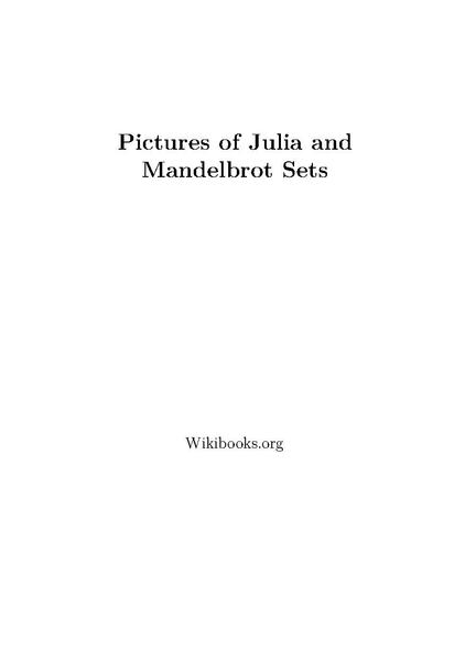 File:Pictures of Julia and Mandelbrot Sets.pdf