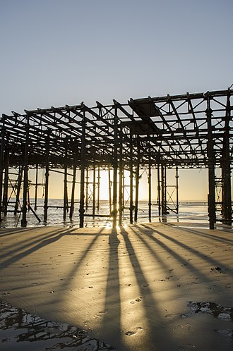 Hastings Pier - After the fire, Hastings Pier