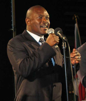 Pierre Nkurunziza -  Pierre Nkurunziza, President of Burundi, in Østfoldhallen, Fredrikstad, Norway, on 10 June 2006. Photo: Marit Nygård