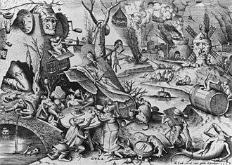 The Fall of the Rebel Angels (Bruegel) - Image: Pieter Bruegel the Elder Gula (Gluttony) WGA3541