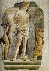 Saint Sébastien entre les saints Roch et Pierre
