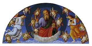 Dieu le Père bénissant parmi les anges