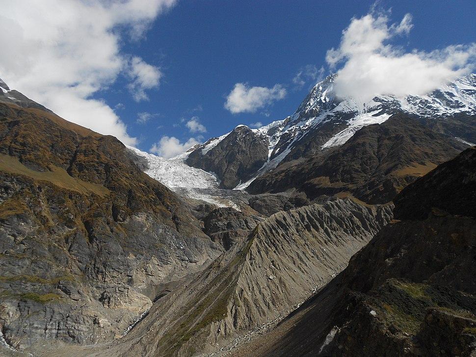 Pindari glacier from Zero Point, Uttarakhand, India