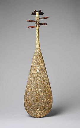 Decorated back of a pipa from the Ming dynasty Pipa MET DP218070.jpg