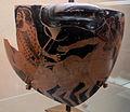 Pittore di kleophrades, framm. di skyphos (più antico noto a f. rosse), da cerveteri, 490-80 ac ca. 03.JPG