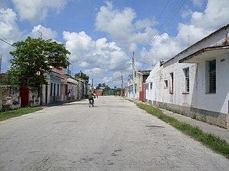 Sagua La Grande - View of a central town's road