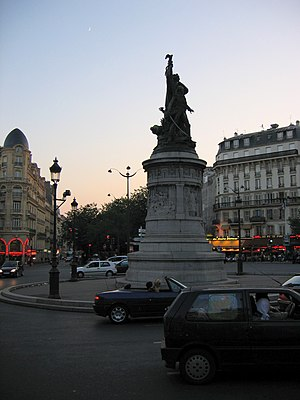 Place de Clichy - Nightfall in the Place de Clichy