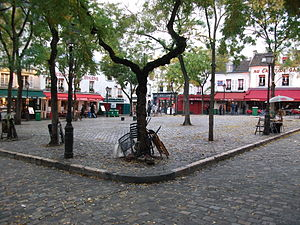 Place du Tertre - Place du Tertre in the morning.
