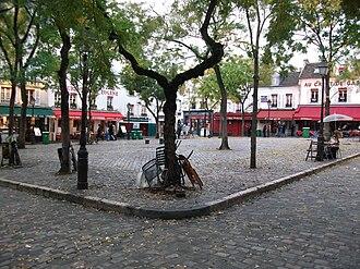 Place du Tertre - Place du Tertre in the morning.