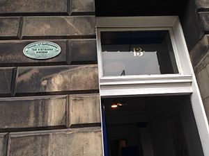 Louisa Stevenson - Plaque at 13 Randolph Crescent, Edinburgh, home of Flora and Louisa Stevenson, Scottish campaigners for women's rights