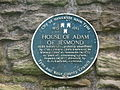 Plaque re The House of Adam of Jesmond (mid-13th C) - geograph.org.uk - 1389823.jpg