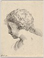Plate 13- head of a young boy, in profile, from 'The Book for Learning to Draw' (Livre pour apprendre à dessiner) MET DP831142.jpg