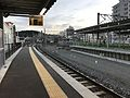 Platform of Isahaya Station (Shimabara Railway).jpg