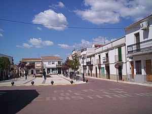 CXXIX International Brigade - Central square of Chillón, the town where the CXXIX International Brigade was established in February 1938.